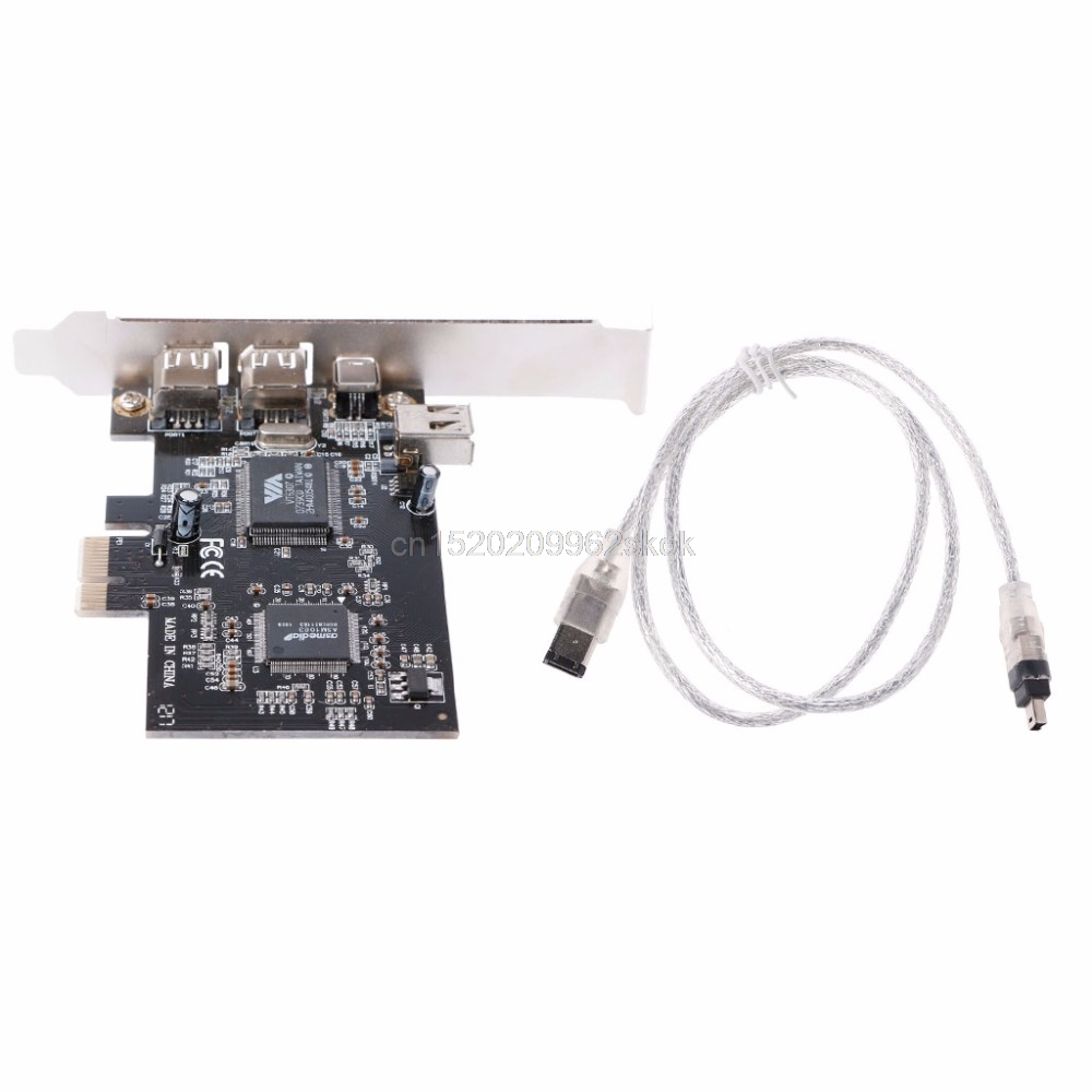 все цены на PCI-e 1X IEEE 1394A 4 Port(3+1) Firewire Card Adapter 6-4 Pin Cable For Desktop PC #H029#