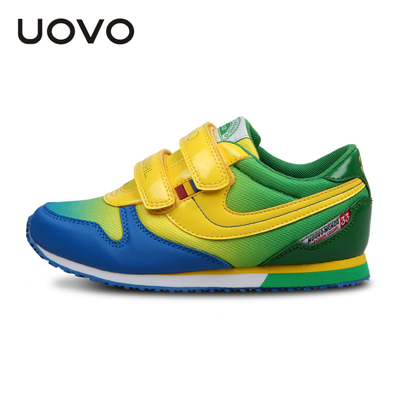 UOVO 2016 hit color fashion childrens shoes brand kids shoes school shoes for teen girls and boys 5 colour size 25-38