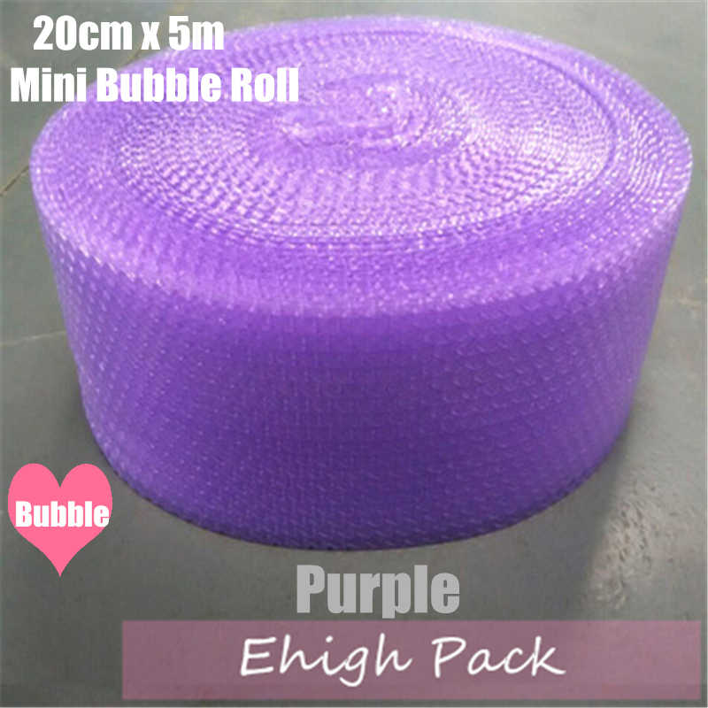20cmx5m Purple Heart-shape mini Air Bubble Roll Party Favors And Gifts Packing Foam Roll Wedding Decoration Emballage Bulle Warp