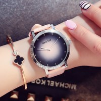 GIMTO Brand Dress Women Wacthes Fashion Ladies Quartz Watch Clock Leather Lovers Girl Bracelet Wristwatches Relogio