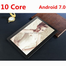 Lskdz Android 7.0 Tablet 10 дюймов Дека core 4 г LTE телефонный звонок Tablet 4 ГБ 64 ГБ Dual SIM 8.0MP Wi-Fi Bluetooth 4 г LTE GPS Планшеты