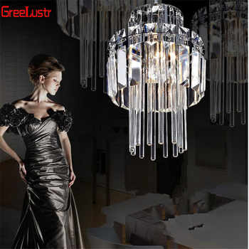 Creative Crystal Led Chandelier Pendant Lamp E14 Industrial Lustre Pendant lamps for Kitchen Decorative Hanging Lamp Luminaire