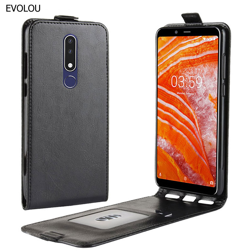 For Vertical Flip Cover <font><b>Nokia</b></font> <font><b>3.1</b></font> <font><b>Plus</b></font> 7.1 5.1 6.1 2018 Case Up Down Leather Phone Case for <font><b>Nokia</b></font> 7.1 <font><b>Plus</b></font> 5.1 Phone Bag Cover image