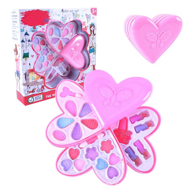 Fashion Toy Baby Girls Pretend Play Safe Kids Girls Makeup Set Kit Toy Strawberry Shape Cosmetics Play Sets For Girl Gift