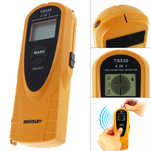 TS530 4 in 1 Super Digital Multifunction Metal Detector AC Voltage with Indicate Light and 2m Tape Measure Inside