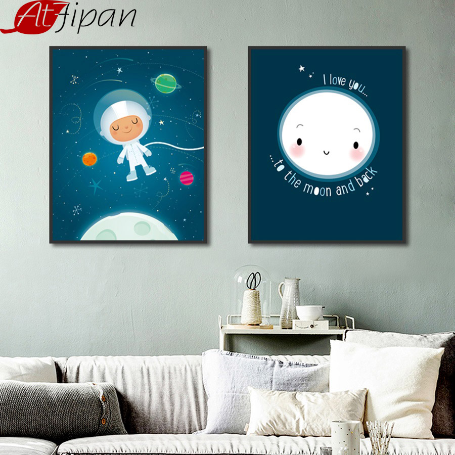 Nordic Style Girls Room Decor Posters and Prints Blue ... on Room Decor Posters id=86869