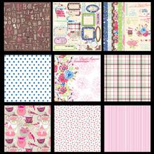 24 Sheets DIY Photo Albums Vintage Paper Pack Packaging Scrapbooking Card Making Background Paper 12 Inch Colorful