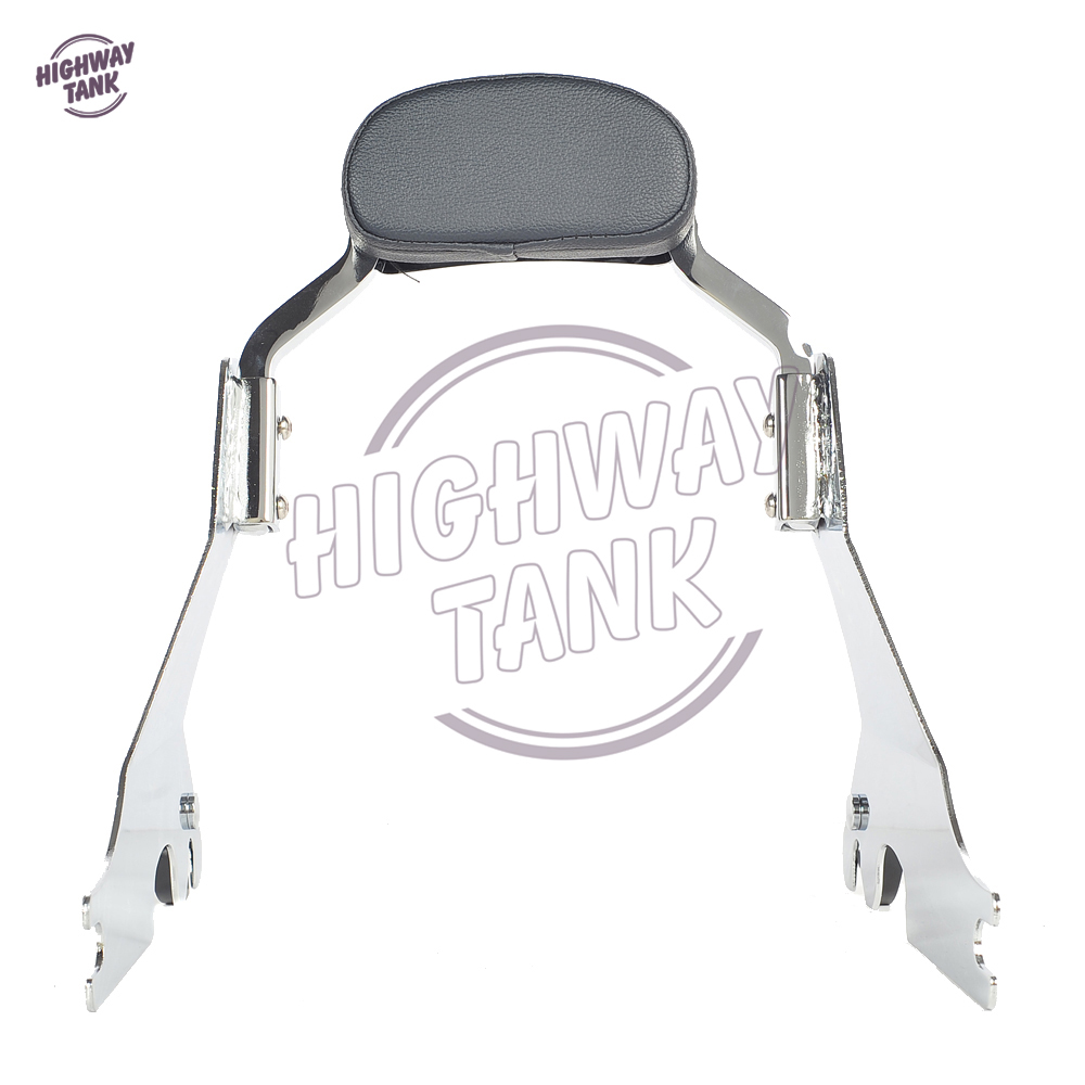 Short Passenger Backrest Bracket Motorcycle Sissy Bar Case for Harley Sportster Forty Eight SuperLow 883 1200 XL883 XL1200 motorcycle chrome front spoiler chin fairing for harley sportster xl883 1200 04 15 new