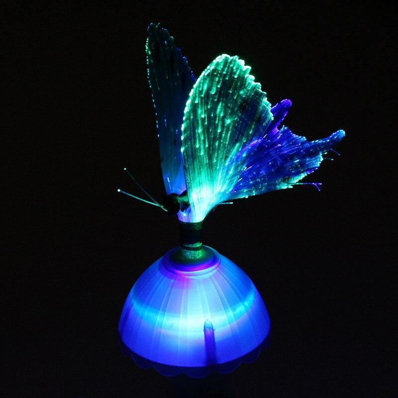US Plug Color Changing Fiber Optic Butterfly LED Night Light - Fiber optic bedroom lighting