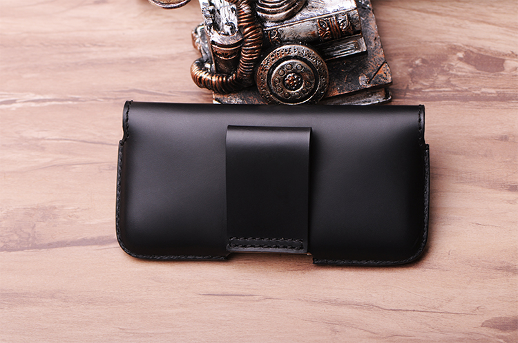 f00c6a7946 SZLHRSD Men Belt Clip Genuine Leather Pouch Waist Bag Phone Cover for  Blackview BV9000 Pro Cases Black Cell Accessory -in Wallet Cases from  Cellphones ...