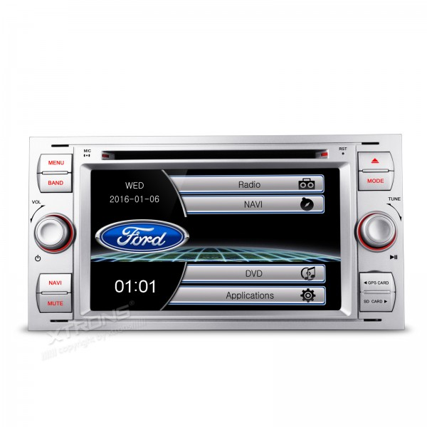 7 Silver Special Car DVD for Ford Fusion 2006-2011 & Kuga 2008-2011 & Mondeo 2004-2007 & S-Max 2007-2009 & Focus 2005-2007