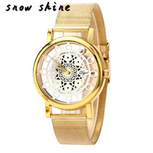 snowshine #10xin   Woman Ladies Phoenix Automatic Mechanical Hollow-out Stainless Steel Wrist Watch    free shipping