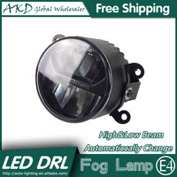 AKD Car Styling LED Fog Lamp For Nissan Tiida DRL Emark Certificate Fog Light High Low