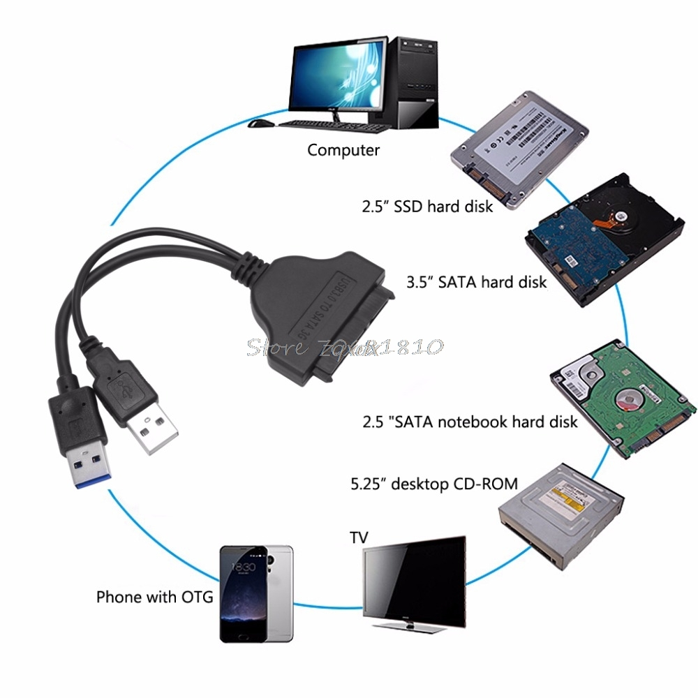 USB 3.0 to SATA Hard Drive Adapter Converter Cable Cord for 2.5 inch SSD HDD Z17 Drop ship kingfast ssd 128gb sata iii 6gb s 2 5 inch solid state drive 7mm internal ssd 128 cache hard disk for laptop disktop