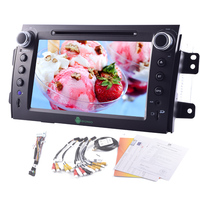 Android 4.4 Car DVD Stereo GPS 8 OBD2 PC APP 1080P Audio Video Touch Screen Capacitive Radio Sub 4Core Autoradio For Suzuki SX4