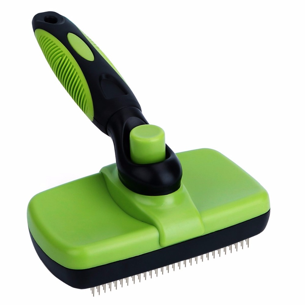 Gomaomi Pet Grooming Brush Comb Furmins Dog Self Cleaning Slicker Brush For Small Large Dog Cat Short Long Hair