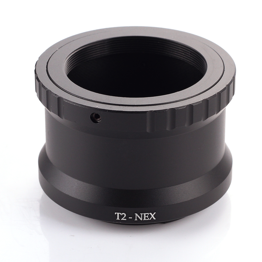 T2-NEX Telephoto Mirror Lens Adapter Ring for Sony NEX E-Mount cameras to attach T2/T mount lens объектив samyang 12mm t2 2 cine sony e nex