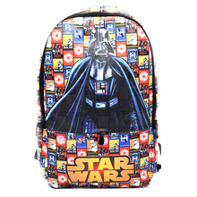 Star Wars Backpack Mochila Masculina Iron Man Knapsack Captain America Superman Batman Spider -Man School Bags Leather Backpack
