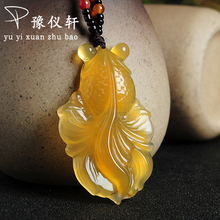 Yu yixuan New Arrivals jewelry Pendant Fine jewelry Citrine fine jewelry Natural stone necklace Jade Boutique Pendant ABP0963