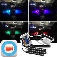 1Set Interior Car LED RGB Neon Lamp FOR Audi A4 A3 A6 A5 Q7 Tt Q3