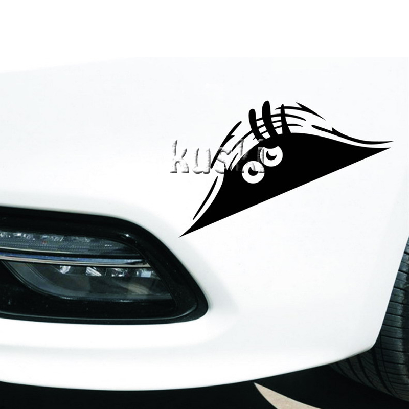 Funny Peeking Monster Car Stickers For Chevrolet Cruze Aveo Captiva Lacetti TRAX Sail Epica For Seat Leon Ibiza Altea