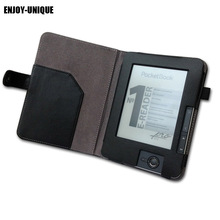 Profitez housse en cuir UNIQUE pour lecteur PocketBook 602,603,612