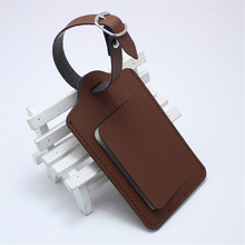 Label Luggage-Tag Suitcase Travel-Accessories Personalized Portable Bag PU LT23A Pendant-Handbag