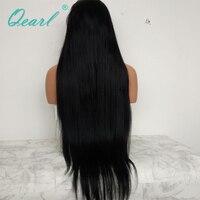 #1 струйные черные шелковистые прямые полные парики шнурка человеческих волос с волосами младенца 130% remy волосы предварительно сорванные ср