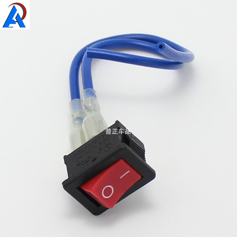 popular wiring rocker switch buy cheap wiring rocker switch lots 5 pcs 2 foot pin rocker switch a wire length 10cm automobile car and motorcycle