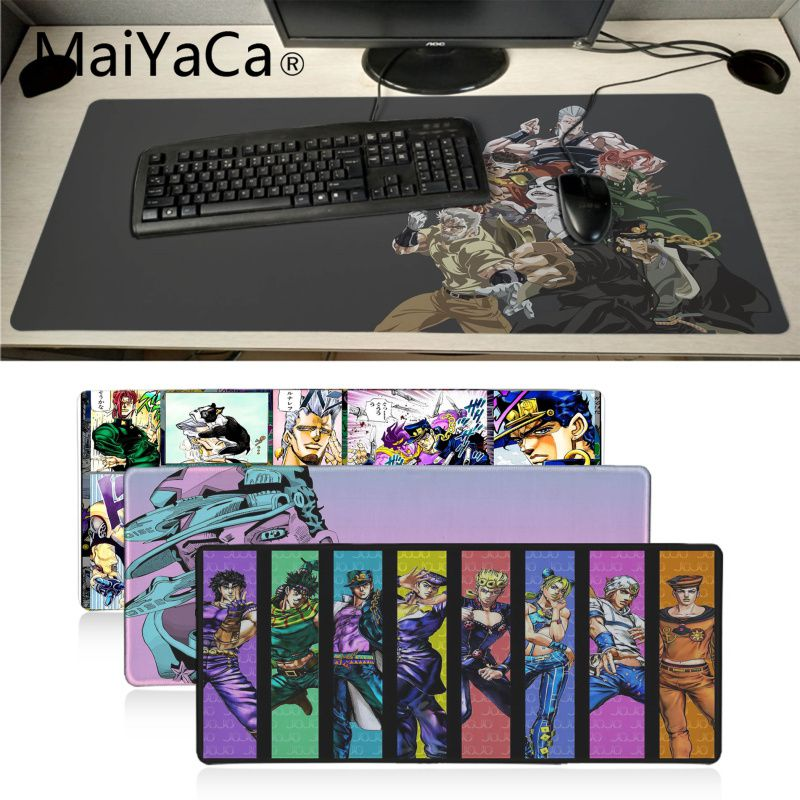 MaiYaCa Skin jojo bizarre adventure Game Mouse Mat Pad Unique Desktop Pad Laptop PC Computer pad Durable Rubber gaming Mouse pad image