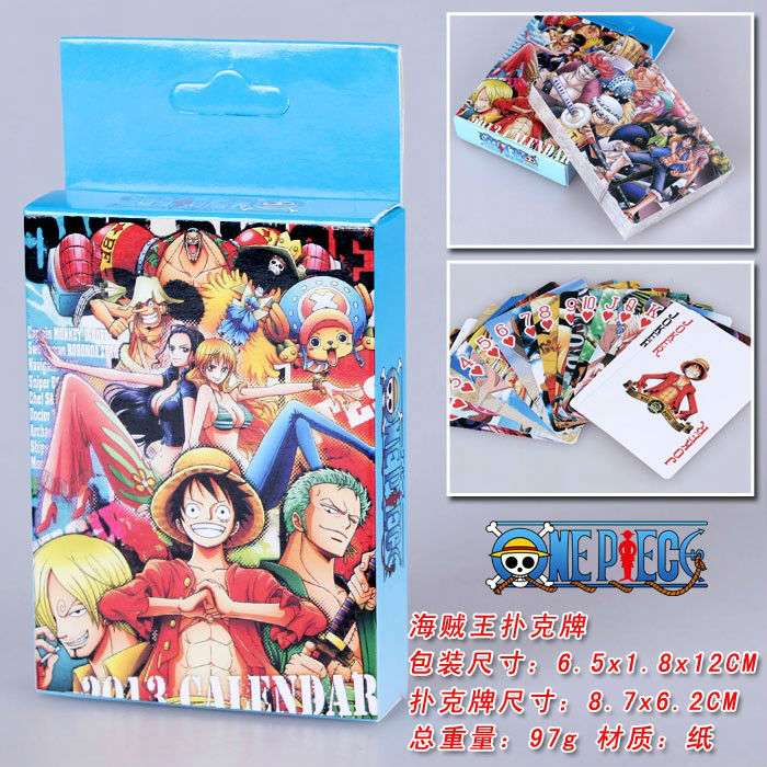 ONE PIECE Toys Anime Poker Mugiwara Game cards for Collection free shipping PK004