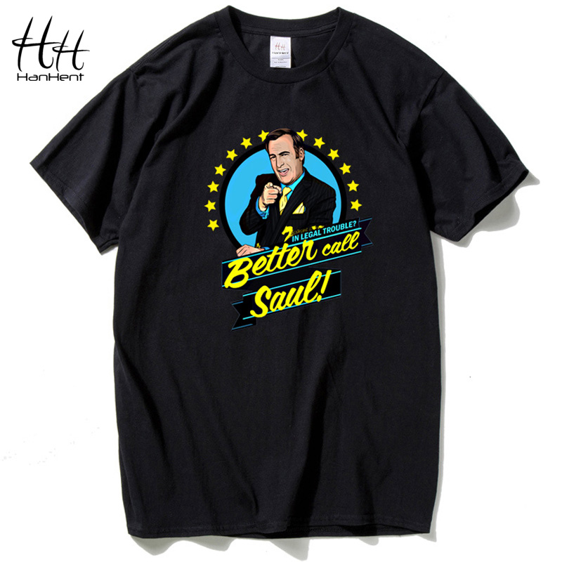 HanHent BETTER CALL SAUL Men   T     Shirt   Cotton Loose Crewneck Short   T  -  Shirt   Breaking Bad Streetwear Tee   shirt   Male Wholesale TA0426