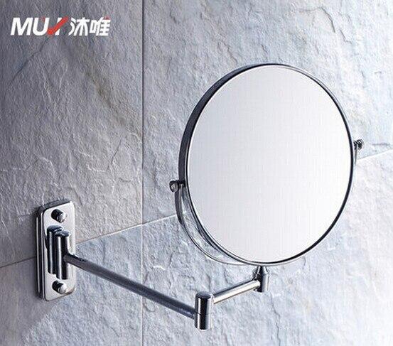 Online Shop Bathroom Makeup Mirror Wall Mounted Retractable Folding  Cosmetic Mirror Double Faced Mirror 8 Inch Vanity Mirror | Aliexpress Mobile