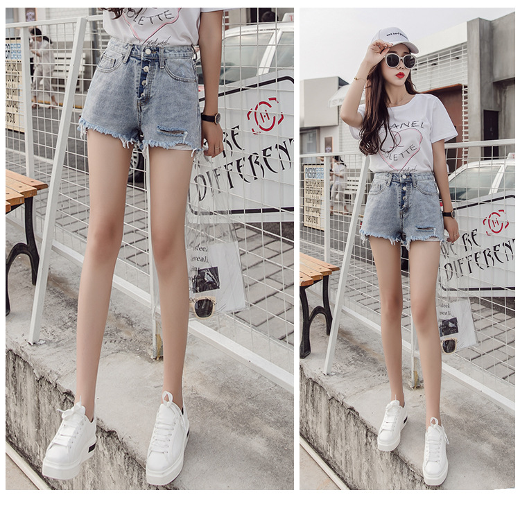 Stylish All-in-one Denim Shorts For Women In The Summer Of 2019 Lady Female Jeans