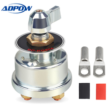 ADPOW Car Battery Disconnect Switch 125A 8-60V Truck Boat Yacht Marine Battery Cut Off Terminal Isolator Switch Vehicle Parts