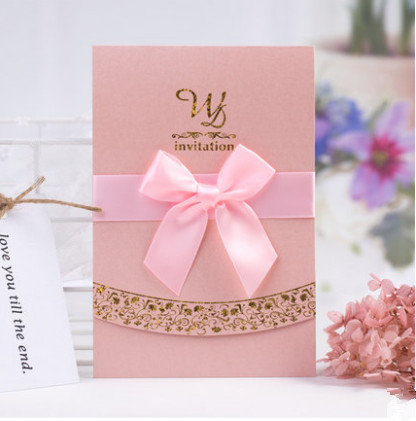 30pcslot free printable newest elegant pink wedding invitation card 30pcslot free printable newest elegant pink wedding invitation card with ribbon in event party supplies free shipping in cards invitations from home stopboris Gallery