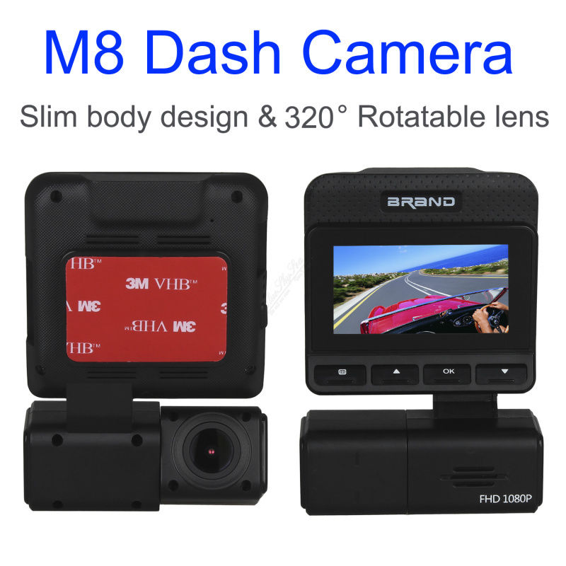 ФОТО Free shipping!M8 Rotatable Lens Slim Design HD 1080P Car Dash Camera Video DVR Night Vision