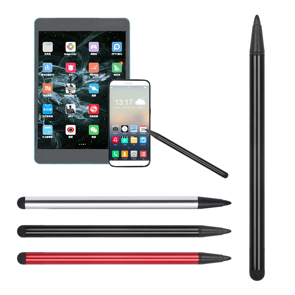 High Precision 2 In 1 Capacitive Pen Touch Screen Stylus Pencil Tablets Pencil For Tablet IPad Cell Phone Samsung PC Accessories