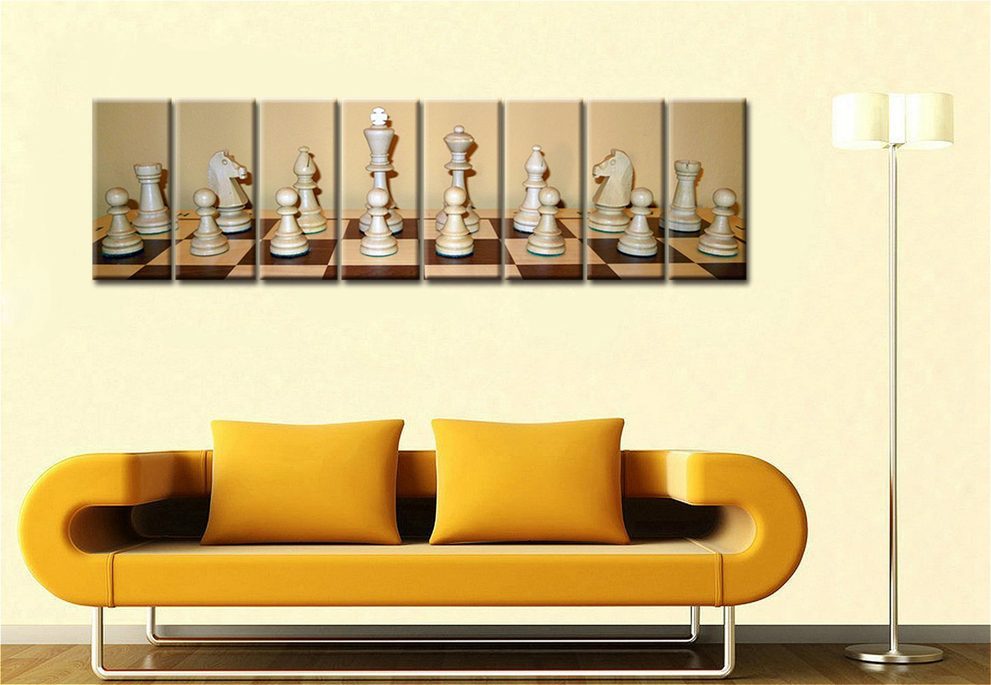 8 Pieces Large Picture Room Decor Fashion Gift Chess Artwork ...