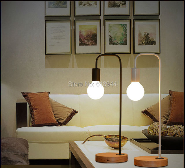 Freeshipping Modern Wood And Metal Table Lamps For Office Desk