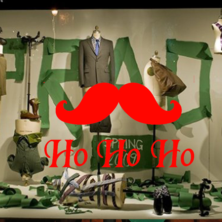6d4effe04 Рождество борода магазин оконное стекло Праздничное оформление стикер ПВХ  Съемный Новый горячий