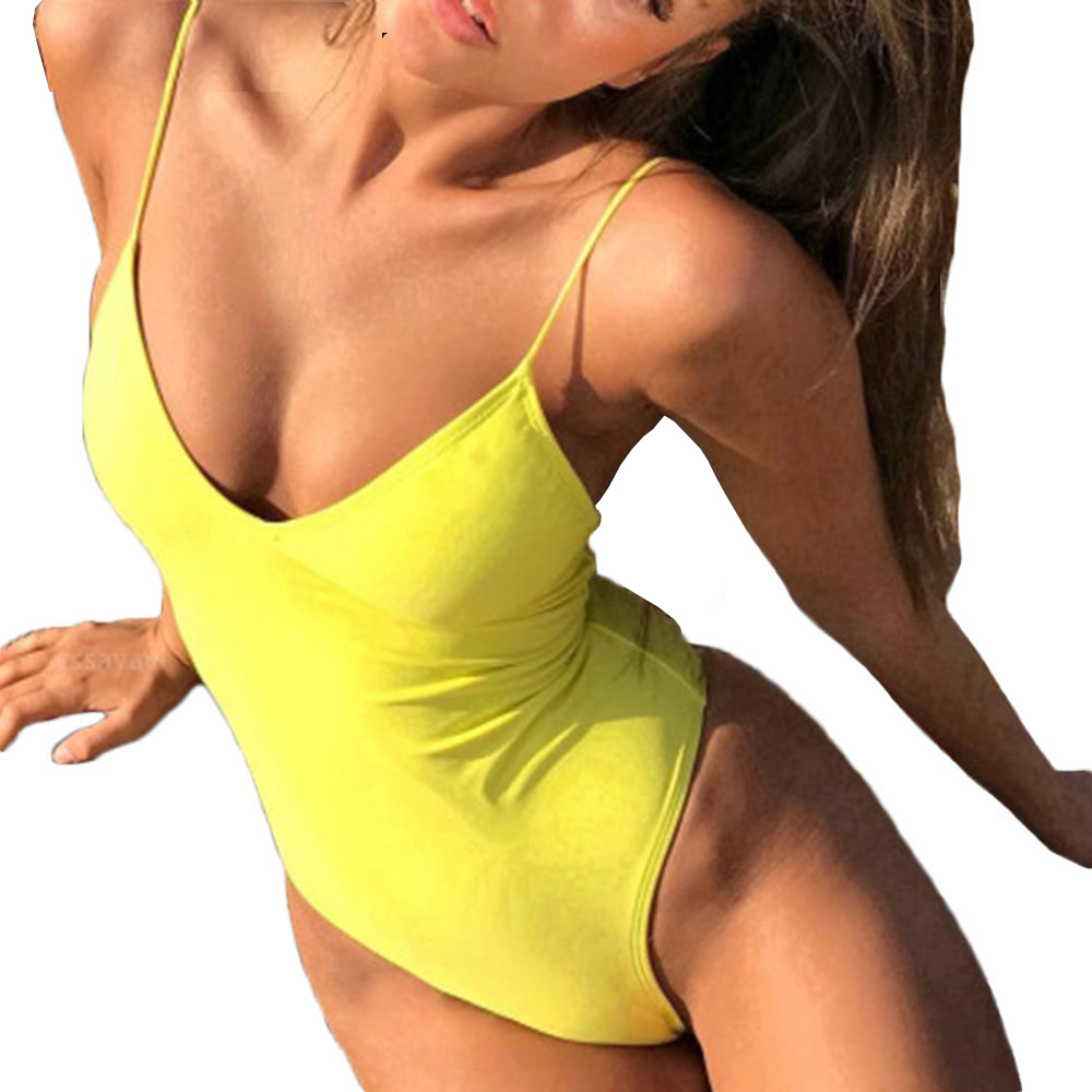 Sexy One Piece Swimsuit Thong Swimwear Women Trikini 2017 Monokini Backless Bathing Suit Female Bandage Push Up Maillot De Bain sexy one piece swimsuit women swimwear trikini bathing suit push up monokini padded maillot de bain femme halter beachwear d261