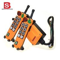 220VAC 8 Channels 1 Speed 2 Transmitters Hoist Crane Truck Radio Remote Control System With E