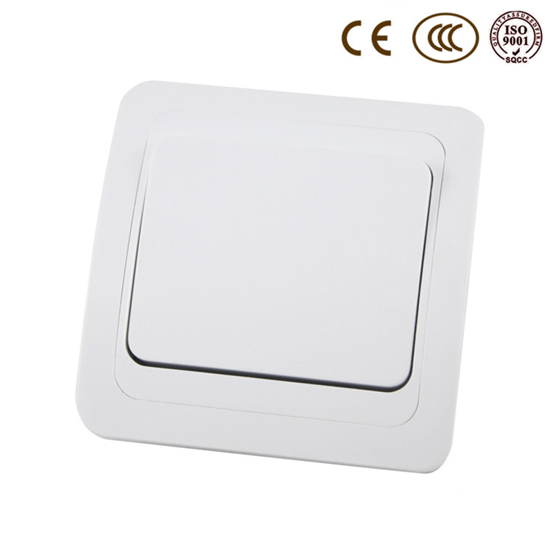 Light Switch Spacer: 16A EU / Russia Standard Wall Switch, 1 Gang 1 Way, Ivory White, Light  Switch, AC 110~250V,Lighting