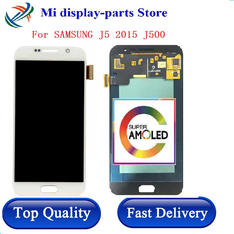 5.0'' Super <font><b>AMOLED</b></font> LCD For SAMSUNG GALAXY J5 2015 <font><b>J500</b></font> LCD Display J500F J500M SM-J500F Touch Screen Digitizer With Tools image