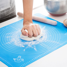 Silicone Dough Mat Non-Stick Baking Mat With Scale Rolling Kneading Dough Pad Pastry Sheet Oven Food Grade Liner Baking Tool premium superior quality norpro silicone pastry mat with measures
