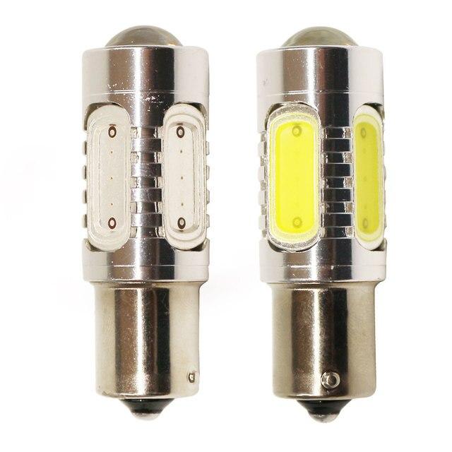 1156PY BAU15S PY21W СВЕТОДИОДНЫЕ Лампы С Проектором 7.5 Вт 7507 Янтарный желтый Белый Красный Auto Turn Тормозная Резервного Света Лампы 12 В FISHBERG