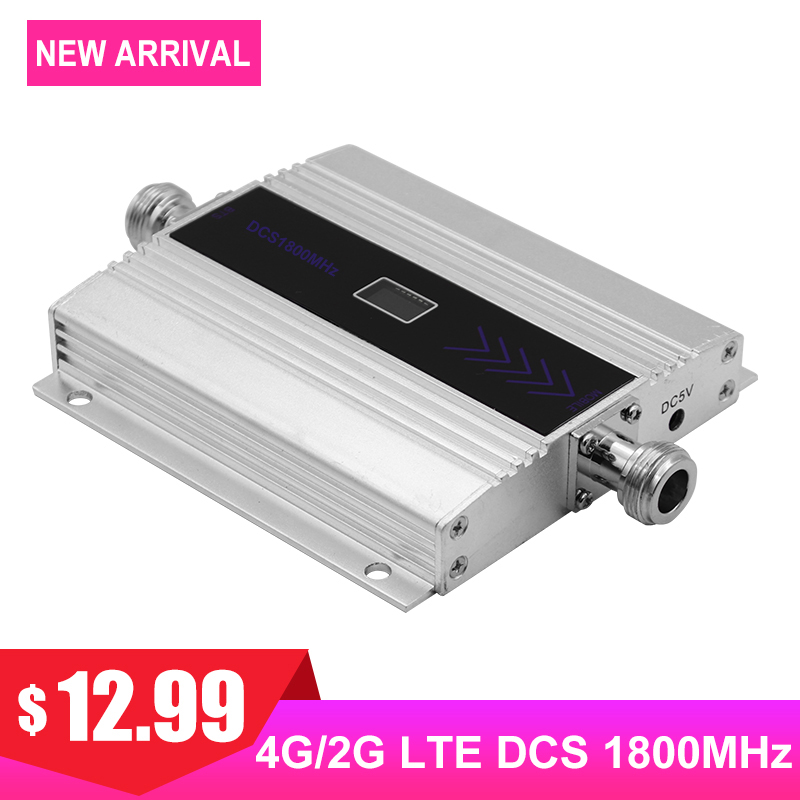 LTE Cellular Signal Booster Mobile Phone 4G Amplifier DCS 1800MHz Band3 Signal Internet Communication Repeater LCD Display >