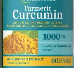 Pride Turmeric Curcumin 1000 mg/60 Help fight cell-damaging free radicals Supports stimulation of the body's natural defenses pycnogenol 60 mg supports antioxidant & heart health 60 capsules free shipping