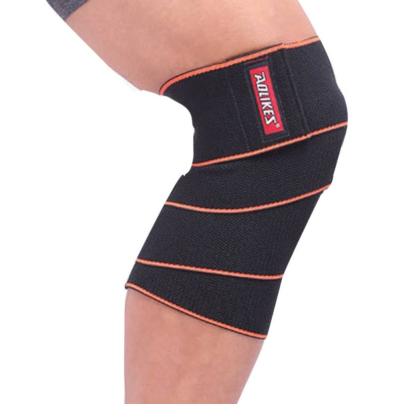 Newest 1 pcs Knee Wraps Weight Knee Protector Lifting Bandage Straps Guard Pads Sleeves Keen Support PQ98